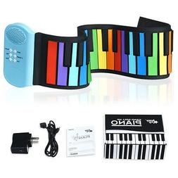49 Keys Roll Up Piano Flexible Kids Piano Keyboard with Buil