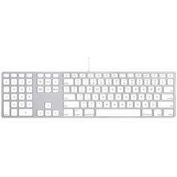 New Genuine Apple Wired Aluminum USB Keyboard  A1243 MB110LL