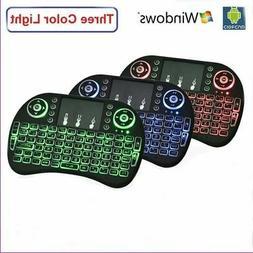 Backlight Mini i8 Wireless 2.4GHz Keyboard Remote Control To