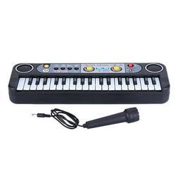 Black 37 Keys Music Electronic Keyboard Key Board Kids Elect