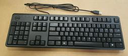BRAND NEW Dell OEM Wired USB 104-key Black Keyboard 0DJ458