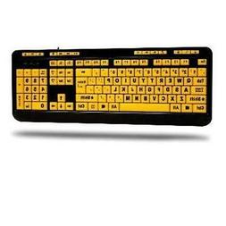 Adesso Easytouch 132 - Florescent Yellow Multimedia Desktop