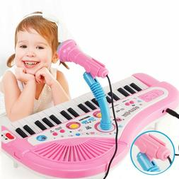 Electronic Piano With Microphone Kid 37 Keys Keyboard Educat