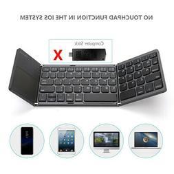 Foldable BT Wireless Keyboard Scroll Storage Slim Mini Keypa