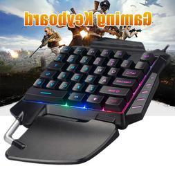 G92 One handed Small 35 Keys Mechanical Gaming Keyboard USB