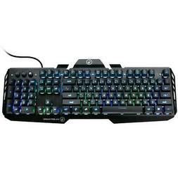 IOGEAR HVER RGB Aluminum Wired Gaming Keyboard, 104 Keys #GK