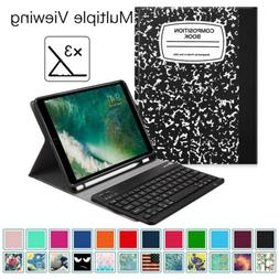 For iPad 9.7 6th Gen 2018 Case Stand w Pencil Holde Wireless