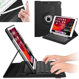 "For iPad 7th Gen 10.2"" 2019 Fintie 360 Rotating Keyboard Cas"