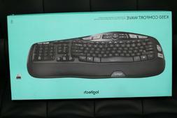 Logitech K350 Wireless Keyboard, Black  CONFORT WAVE!