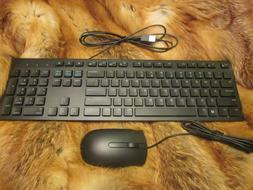 Dell KB216 Wired Keyboard and Mouse Combo Black ** NEW IN BO