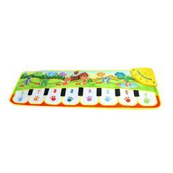 Kids Music Piano Toy Singing Game Mat Children Keyboard Carp