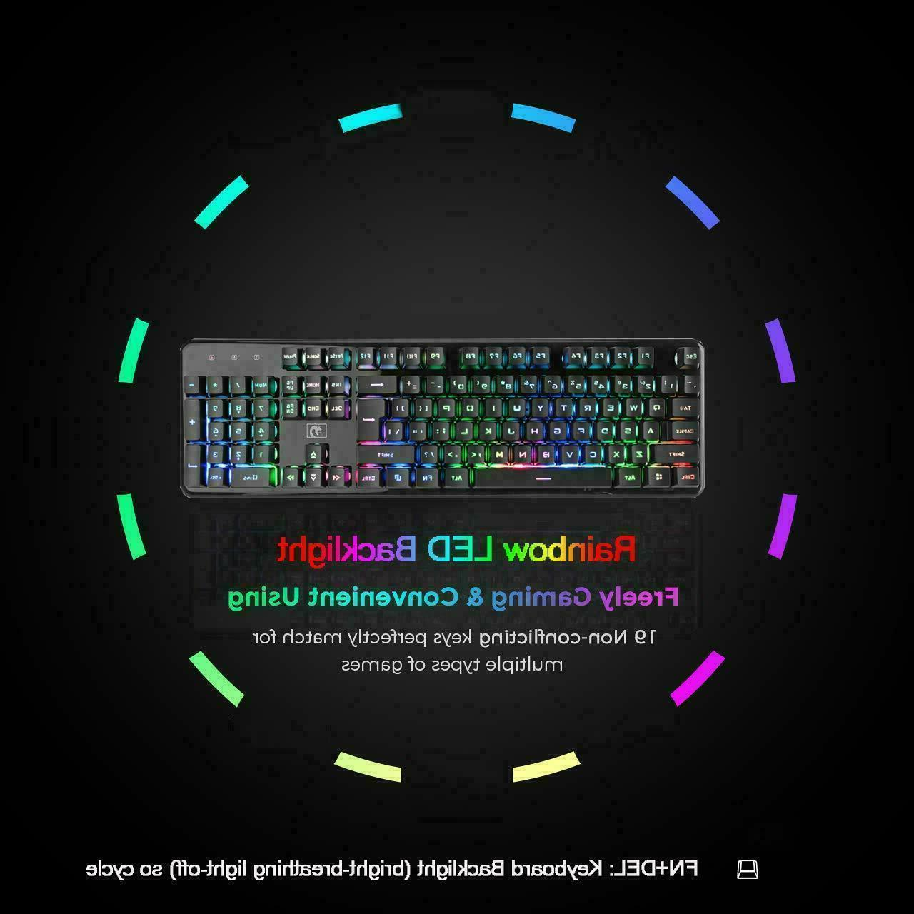 2.4G Rechargeable Blue LED USB Gaming Keyboard and