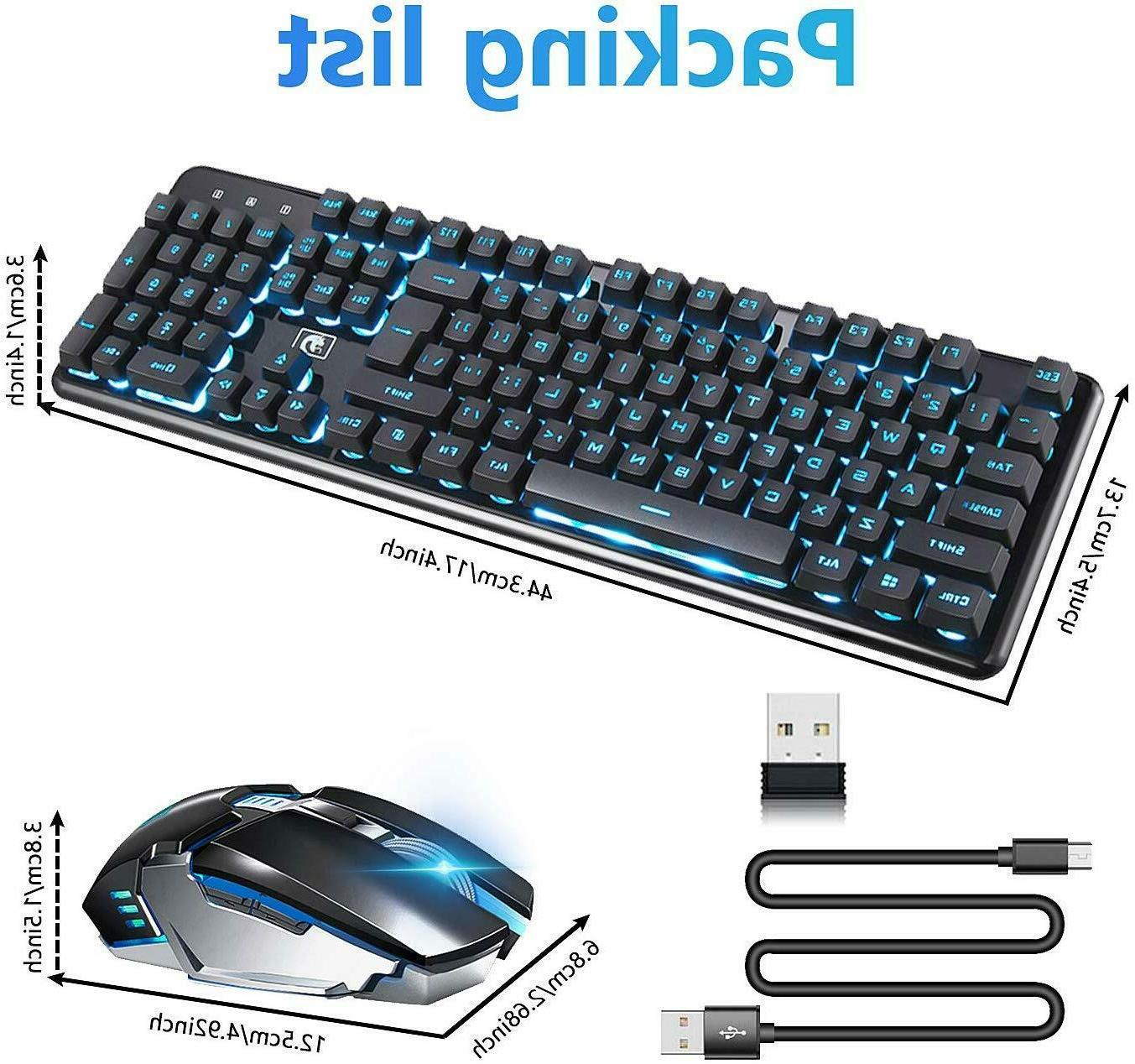 2.4G Wireless LED USB Keyboard