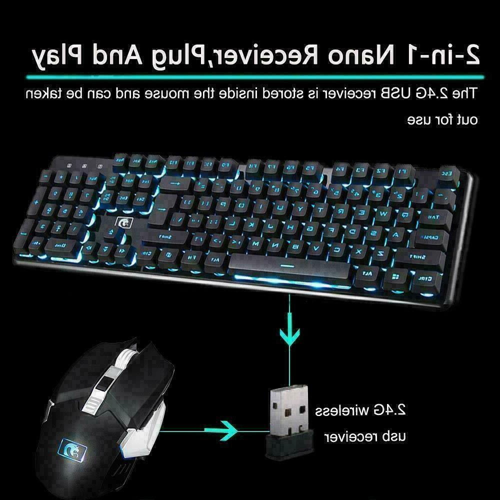 2.4G LED USB Keyboard Mouse Combo