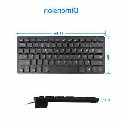 Mini Gaming Keyboard RGB LED USB Wired Game 35 Key Accessory