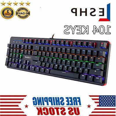 computer desktop gaming keyboard wired rgb mechanical