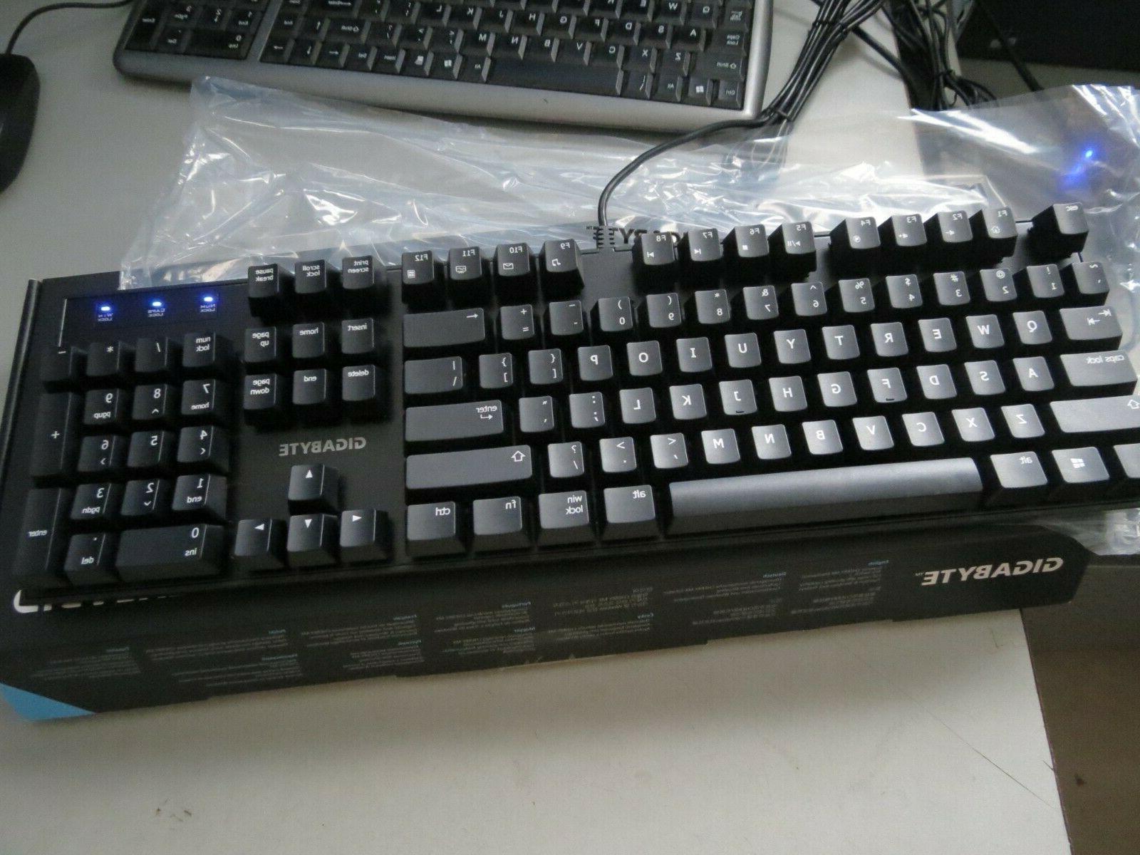 Genuine Gigabyte Force Mechanical Gaming Red Keyboard