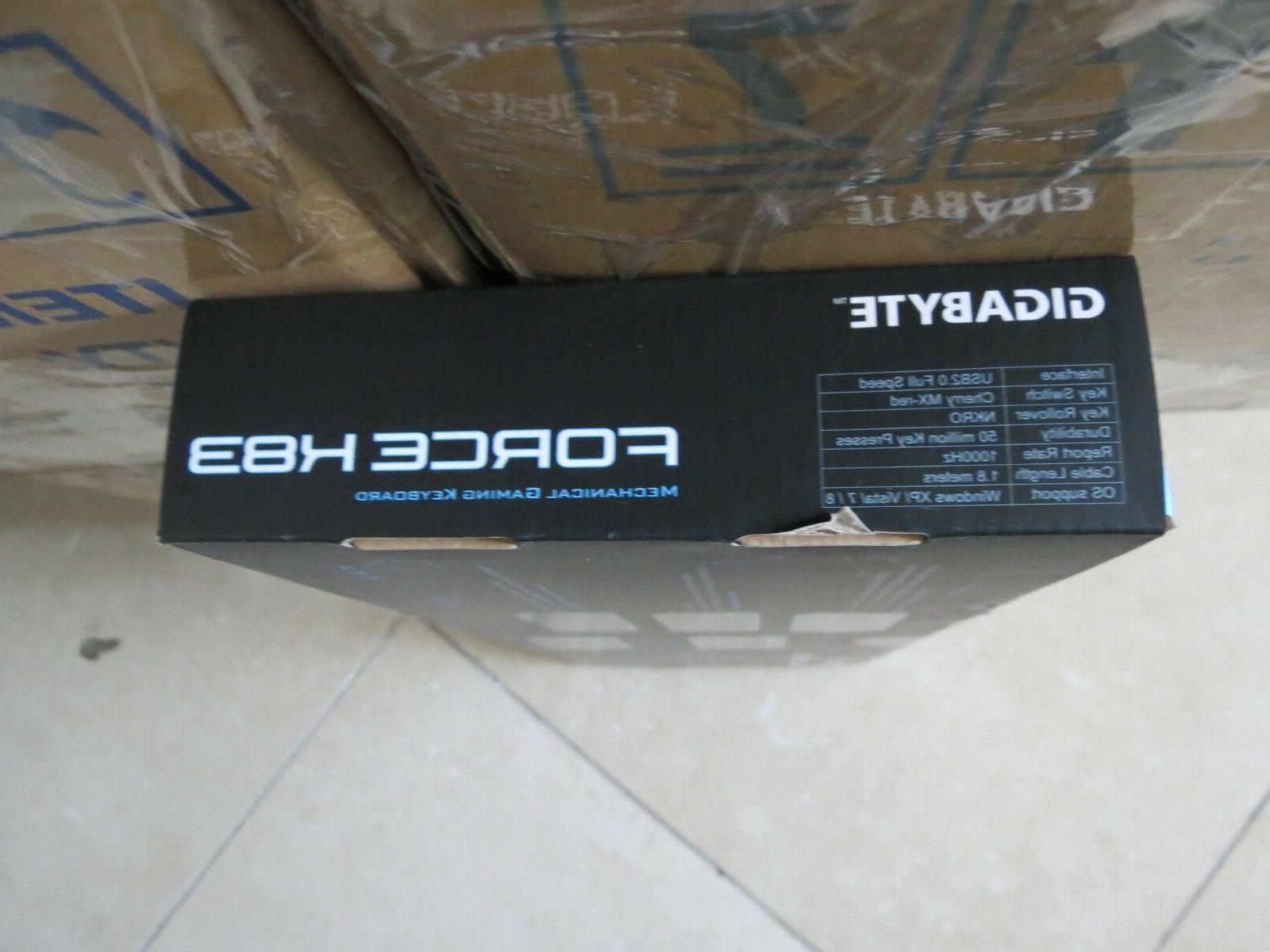 Genuine Gigabyte GK-FORCEK83 Mechanical US Red Keyboard