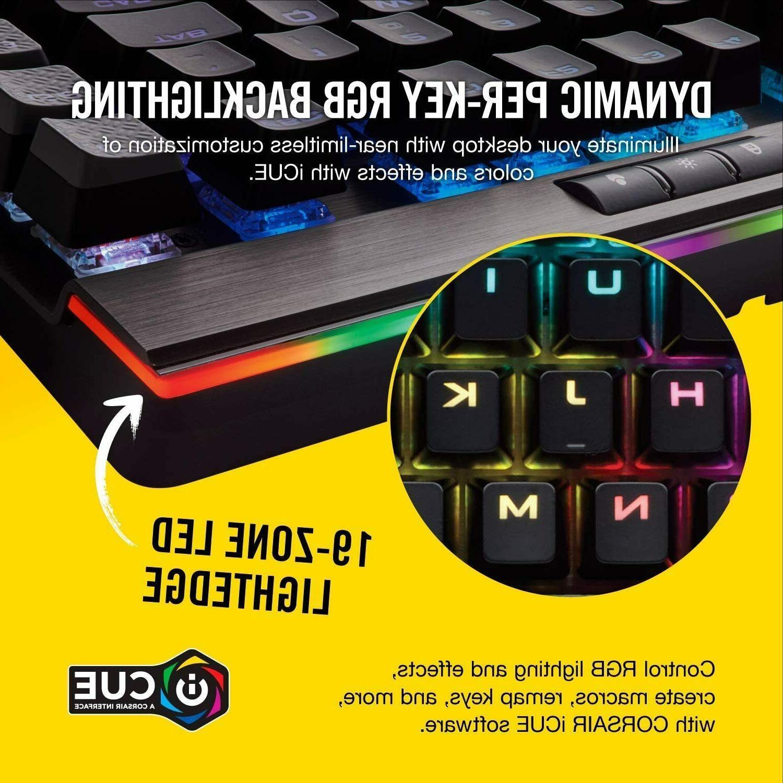 Corsair K95 RGB Gaming Keyboard 6x Macro