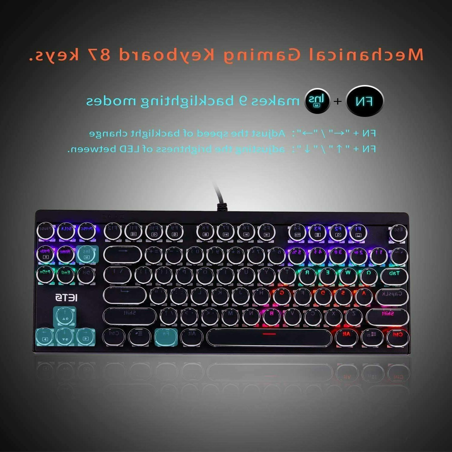 IETS Gaming with Switches,Punk Retro keycaps,87keys