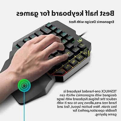 Mechanical Backlit Keyboard Wired Key One-Handed