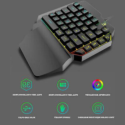 Mechanical Light Keyboard USB Key Gaming Keypad