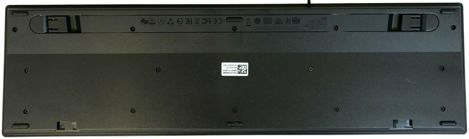 New Genuine KB216-BK-US Multimedia Wired Keyboard Black 644G3