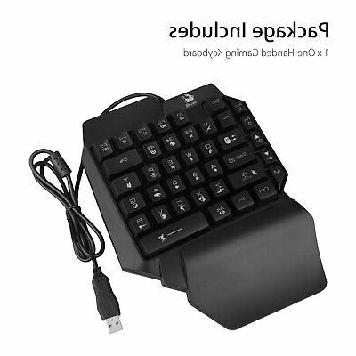 Mechanical Backlit Keyboard Key One-Handed