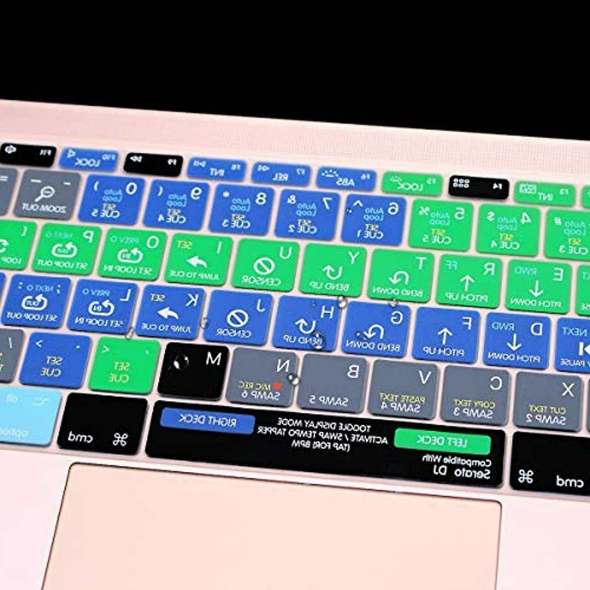 "Silicone Keyboard Cover Skin Serato DJ Functional MacBook New Pro 12"""