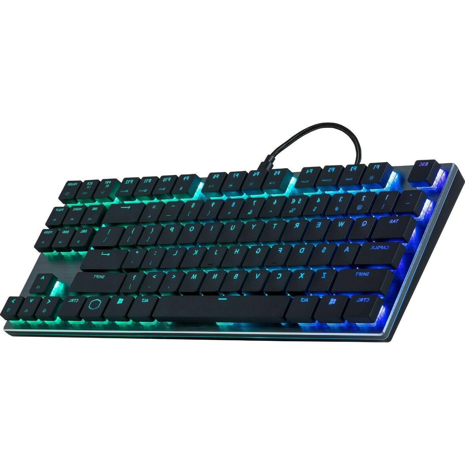 sk630 tenkeyless black mechanical keyboard with cherry