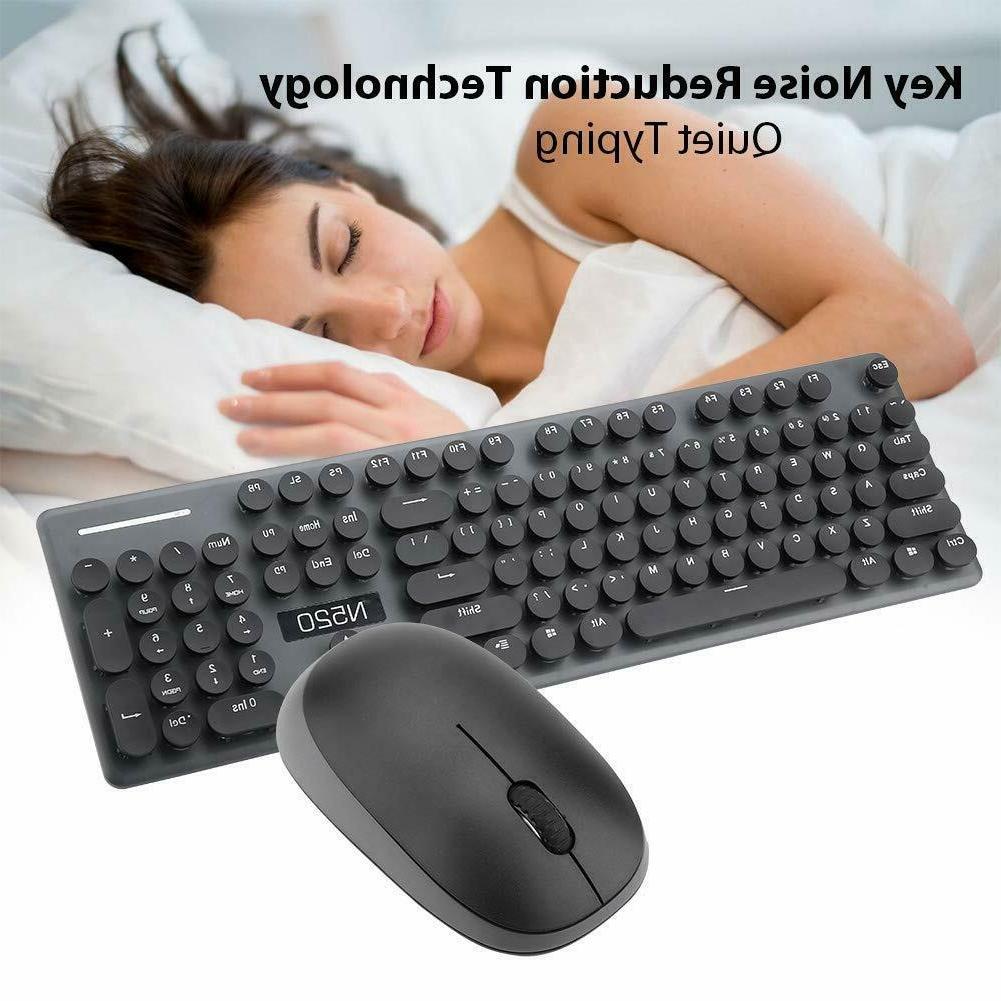 Wireless Keyboard Combo 2.4GHz Full Size Num/Caps/Power Indicator Black