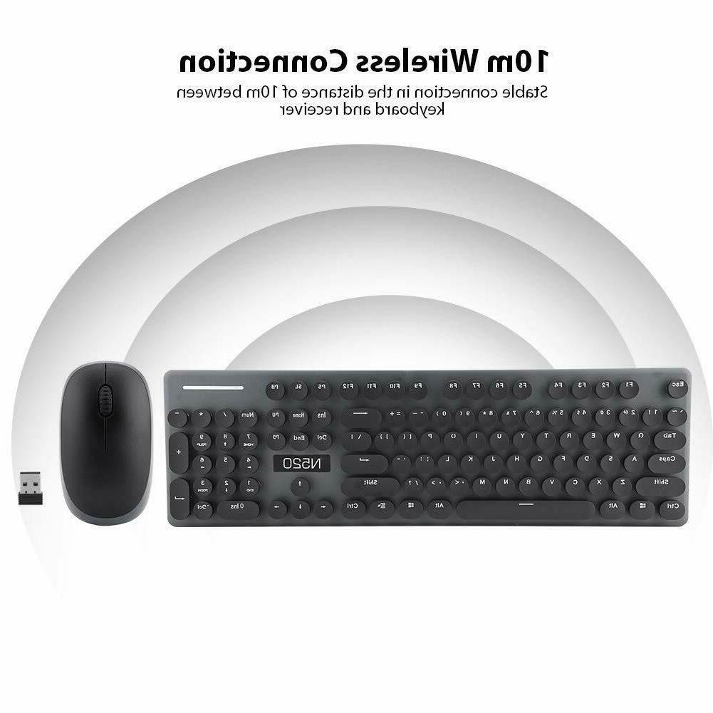 Wireless Keyboard Combo Size Num/Caps/Power Black