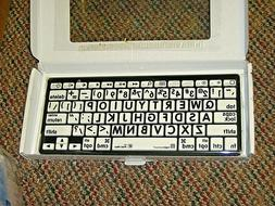LogicKeyboard Large Print Black/White Bluetooth Mini Keyboar