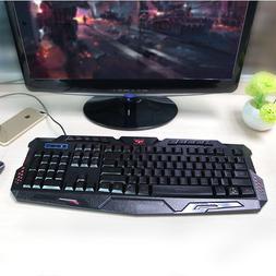 LED Illuminated Backlight USB Wired Gaming PC Keyboard Backl