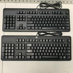 LOT OF 2 HP Elite USB Keyboards Model KU-1156 BLACK NICE SLE