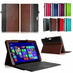 For Microsoft Surface Tablet Folio Leather Case Cover With K
