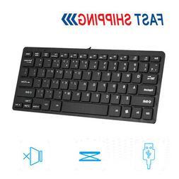 Mini Wired USB Keyboard 78 Keys Small Waterproof Desktop Key