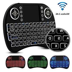 Mini 2.4GHz Wireless LED Remote Keyboard Mouse for Raspberry
