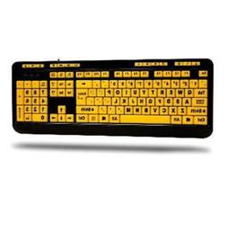 NEW Adesso AKB-132UY EasyTouch 132 - Florescent Yellow Multi