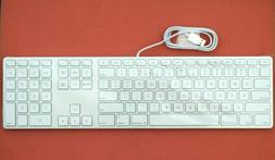 New US English Apple A1243 Aluminum Wired USB Keyboard with