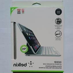 New Belkin QODE Ultimate Keyboard Case iPad Air 2 - Silver /
