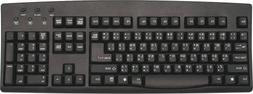 1 X Thai and English Wired USB Computer Keyboard - Black Com