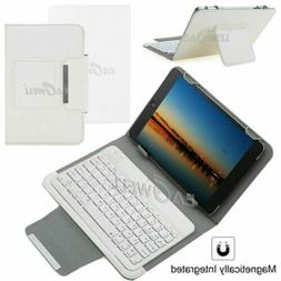 """US For 7"""" 8"""" 10"""" 10.1"""" Tablets Universal Leather Case Keyboa"""