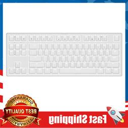 White Mechenical Gaming Keyboard 87-Key Blue Switch for PC/M