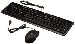 AmazonBasics Wired Keyboard and Wired Mouse , 10-Pack