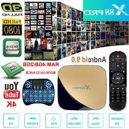 X88 Pro Android 9.0 Tv Box RK3318 4GB 64GB 2.4G&5.8G Wifi Sm